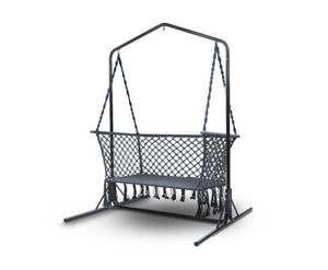Sandy Indoor/Outdoor Double Hammock Swing Chair + Stand (Grey) [EST. RESTOCK 13/11/20]