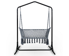 Load image into Gallery viewer, Sandy Indoor/Outdoor Double Hammock Swing Chair + Stand (Grey) [EST. RESTOCK 13/11/20]