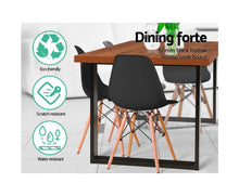 Load image into Gallery viewer, Mark Industrial Dine Table (Timber & Black)