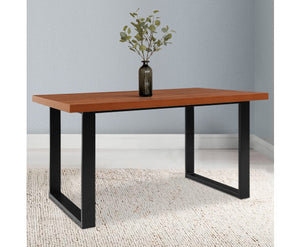 Mark Industrial Dine Table (Timber & Black)