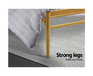 Bee Metal Bed Frame King Size Gold Amor {No Mattress}