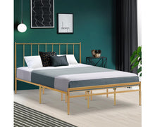 Load image into Gallery viewer, Bee Metal Bed Frame King Size Gold Amor {No Mattress}