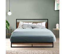 Load image into Gallery viewer, Bee Metal Bed Frame Double Size Black {No Mattress}