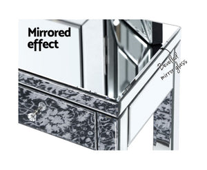 Suzi Mirrored Finish Dressing Table with Stool & Mirror Set (Silver) [EST. RESTOCK 30/11/20]