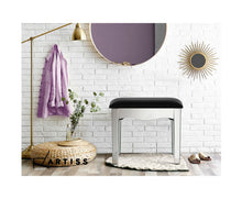 Load image into Gallery viewer, Suzi Mirror Finished Dressing / Vanity Table Feature Stool [EST. RESTOCK 30/11/20]