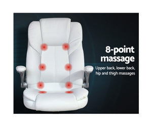 Tonia 8 Point Massage Recliner Chair (White)