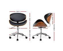 Load image into Gallery viewer, Rebekah OFFICE Stool (Black, Timber & Chrome) x 1