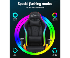 McAbs RGB MULTI NEON LED Office / Gaming Chair (Black) [EST. RESTOCK 03/01/21]