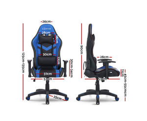 McAbs RGB MULTI NEON LED Office / Gaming Chair (Blue / Black) [EST. RESTOCK 04/01/21]