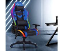 Load image into Gallery viewer, McAbs RGB MULTI NEON LED Office / Gaming Chair (Blue / Black) [EST. RESTOCK 04/01/21]
