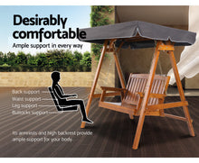 Load image into Gallery viewer, Daydream Outdoor Wooden Swing Chair/Canopy 2 Seater (Teak) [EST. RESTOCK 18/11/20]