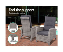 Load image into Gallery viewer, Hamilton Sun lounge Recliner Chair Wicker & Ottoman (Grey) [EST. RESTOCK 03/01/21]