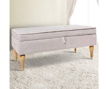 Load image into Gallery viewer, Xavier Ottoman/Footstool (Beige - tones may vary slightly)