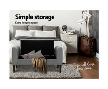 Load image into Gallery viewer, Minnie Storage Ottoman / Footstool (Lt. Grey- tomes may vary slightly)