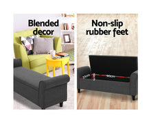 Load image into Gallery viewer, Yardley Storage Ottoman / Blanket Box / Footstool (Fabric/Grey)