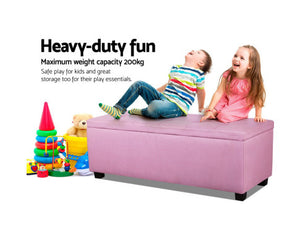 Daisy Storage Ottoman - (Fabric/Pink) * $PECIAL