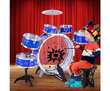 Load image into Gallery viewer, Collyns - Child's 11 Piece Drum Set (Blue)