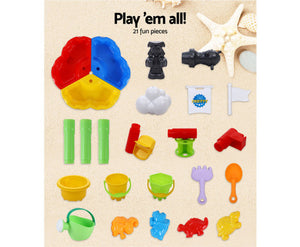 Molly Kids Multi-coloured  Beach Sand & Water Sandpit + Childrens Bath Toys