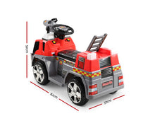 Load image into Gallery viewer, Kris Kids Ride On Fire Truck (Red)