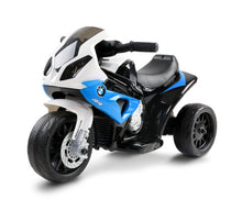 Load image into Gallery viewer, Kris Kids Ride On BMW Motorbike / Motorcycle - (Blue)