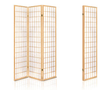 Load image into Gallery viewer, Sunso Privacy Screen / Room Divider - 3 x Panel (Natural & White)