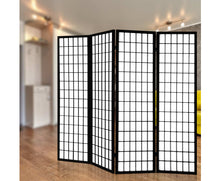 Load image into Gallery viewer, Sunso Privacy Screen / Room Divider - 4 x Panel (Black & White)