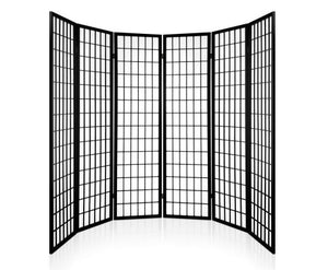 Sunso Privacy Screen / Room Divider - 6 x Panel (Black & White)