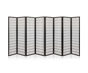 Sunso Privacy Screen / Room Divider - 8 x Panel (Black & White)