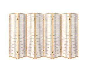 Sunso Privacy Screen / Room Divider - 8 x Panel (Natural & White)