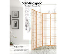Load image into Gallery viewer, Sunso Privacy Screen / Room Divider - 8 x Panel (Natural & White)