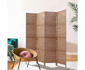 Marley Rattan 4 Panel Room Divider / Privacy Screen [EST. RESTOCK 15/11/20]