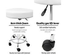 Load image into Gallery viewer, Michaela Salon Stool - White on Chrome - Adjustable [EST. RESTOCK 25/10/20]