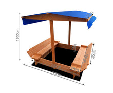 Load image into Gallery viewer, Bart Wooden Outdoor Sand Box+ Canopy Set- Natural Wood * $PECIAL