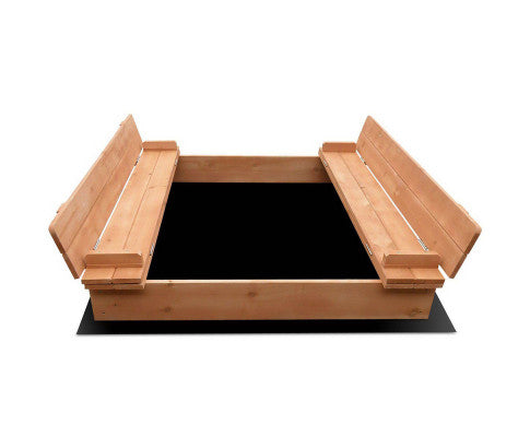 Bart Wooden Outdoor Sand Box Set (Natural Wood)
