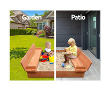 Load image into Gallery viewer, Bart Wooden Outdoor Sand Box Set (Natural Wood)