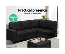 Load image into Gallery viewer, Ann Sofa Lounge Set 5 Seater Modular + Chaise  Fabric (Dk. Grey) *$PECIAL