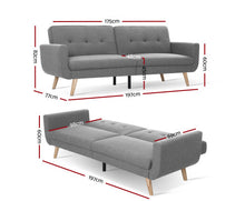 Load image into Gallery viewer, Eileen 3 Seater Sofa Bed Lounge Recliner (Lt. Grey) [EST. RESTOCK 30/10/20] *$PECIAL
