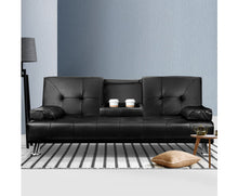 Load image into Gallery viewer, Claire 3 Seater Fabric Sofa Bed (Black) * $PECIAL