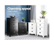 Load image into Gallery viewer, Venus Vintage Bedside Table 3 Drawers (Black)