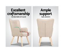Load image into Gallery viewer, Clint Armchair + Ottoman (Beige) *$PECIAL