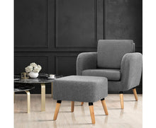 Load image into Gallery viewer, Hume Tub Armchair and Ottoman
