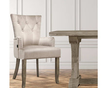 Load image into Gallery viewer, Oui-Oui French Provincial Dining Chair x 1 (Camel Velvet) [EST. RESTOCK 03/11/20]