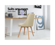 Load image into Gallery viewer, Kathleen Café / Dining Chair x 2 Fabric (Beige)
