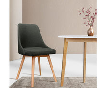 Load image into Gallery viewer, Kathleen Café / Dining Chair x 2 Fabric (Charcoal)