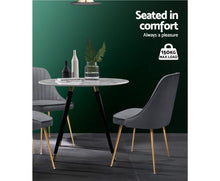 Load image into Gallery viewer, Celina Retro Dining Chairs x 2 (Grey)