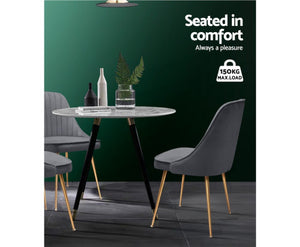 Celina Retro Dining Chairs x 2 (Grey)