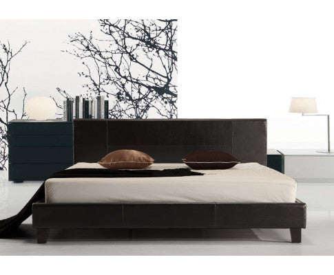 Galaxy King PU Leather Bed Frame (Black) {No Mattress} $PECIAL