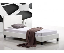 Load image into Gallery viewer, Galaxy Single PU Leather Bed Frame (White) {No Mattress}