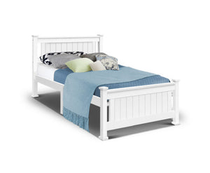 Cleo Single Bed Frame (White) {No Mattress} $PECIAL