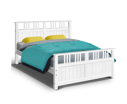 Saturn 'Double' Wooden Bed Frame Timber Full Size Adults / Child {No Mattress} [EST. RESTOCK 30/10/20]
